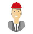 cheerful businessman in hardhat vector image