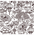 chinese new lunar year seamless pattern vector image vector image