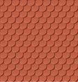 clay roof tiles vector image