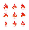collection of fire and flames logo graphic vector image vector image