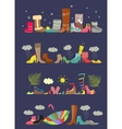 collection various shoes four seasons vector image