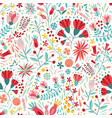 colorful floral seamless pattern with berries vector image vector image