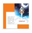 colorful startup cartoon brochure vector image vector image
