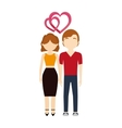 couple in love hearts affection vector image vector image