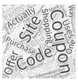 coupon codes Word Cloud Concept vector image vector image