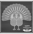 Creative stylized turkey with ornamental elements vector image