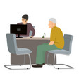 customer and manager bank simple style vector image