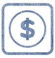 dollar fabric textured icon vector image vector image