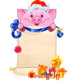earthy pig for new year 2019 vector image vector image
