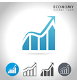 economy blue icon vector image vector image