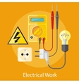Electrical Work Concept vector image vector image