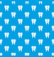 first tooth pattern seamless blue vector image vector image