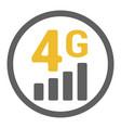 flat 4g gsm signal strength indicator vector image vector image