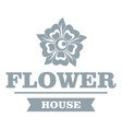 flower decoration logo simple gray style vector image vector image