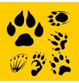 Footprints set - vinyl-ready vector image vector image