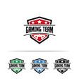 gaming logo design template vector image
