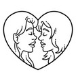 gay couple love lesbian love vector image