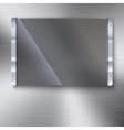 Glass plate with metal frame vector image vector image