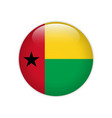 guinea-bissau flag on button vector image vector image