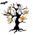 Halloween Icon Tree vector image
