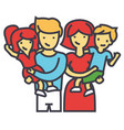 happy family portrait standing together parents vector image vector image
