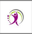human character logo vector image