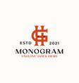 letter hg gh h g monogram logo template vector image vector image