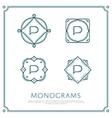 Letter P Monogram vector image