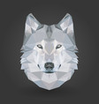 low poly animal wolf 3d abstract vector image vector image
