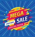 mega sale discount layout concept vector image vector image
