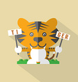 Modern Flat Design Tiger Icon vector image vector image