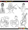 musicians cartoon coloring page vector image
