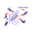 online lessons design concept vector image vector image