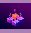 our team - modern colorful isometric vector image vector image
