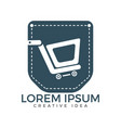 pocket and shopping cart logo design vector image