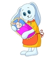 rabbit mother with child vector image