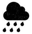 Rain Cloud Grainy Texture Icon vector image vector image