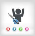 rapine icon vector image