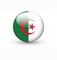 Round icon with national flag of Algeria vector image vector image