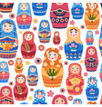 russian doll pattern textile design vector image