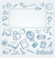 School doodle on the page with space for text vector image vector image