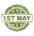scratched textured 1st may stamp seal vector image