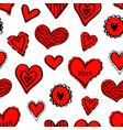 seamless hearts pattern-02 vector image vector image