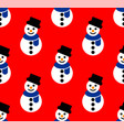 snowman patterns vector image vector image
