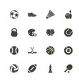 sport equipment - flat icons vector image vector image
