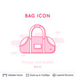 sports bag icon isolated on white vector image vector image