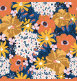 summer flowers seamless pattern floral vector image vector image