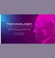 technology banner line link human pink blue vector image