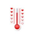 thermometer love scale vector image