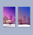 trendy cover template winter city chicago city vector image vector image